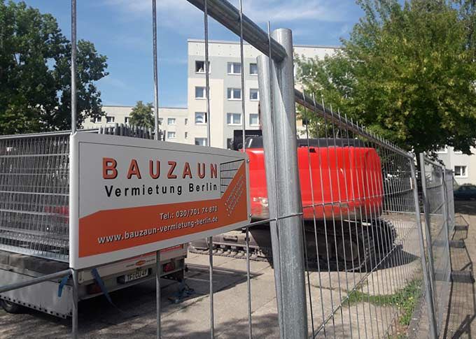 Bauzaun in Berlin